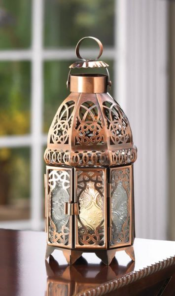 COPPER MOROCCAN CANDLE LAMP (1)