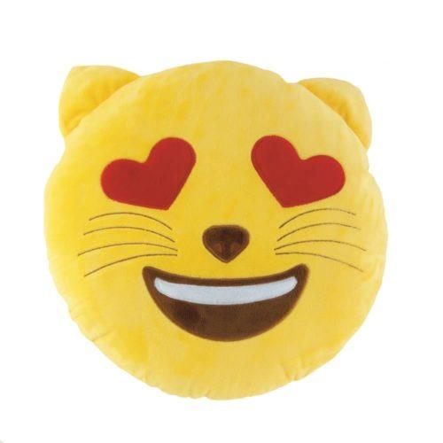 EMOJI CAT THROW PILLOW