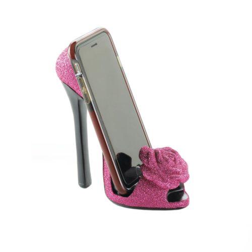 PINK ROSE SHOE PHONE HOLDER (1)