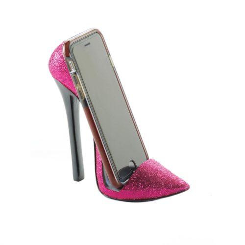 PINK SHOE PHONE HOLDER (1)