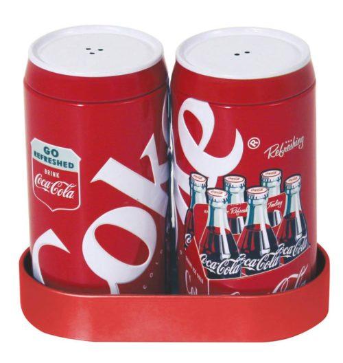 COKE GALVANIZED SALT & PEPPER SHAKERS