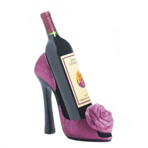 PINK ROSE WINE BOTTLE HOLDER (2)