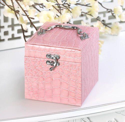 STYLISH PINK JEWELRY BOX (3)