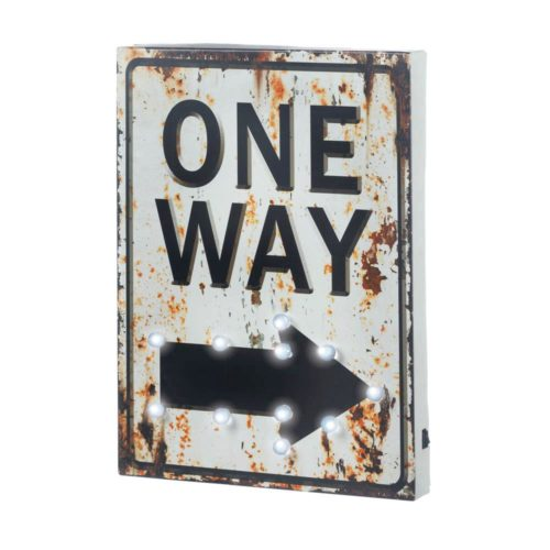 LIGHT-UP ONE WAY SIGN (1)
