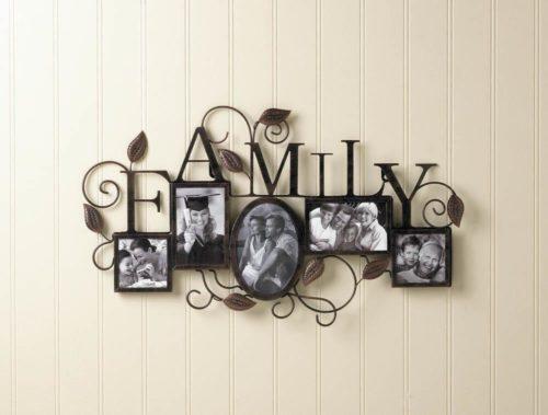 FAMILY 5-PHOTO WALL FRAME (2)