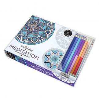 MEDITATION ADULT COLORING BOOK W_PENCILS