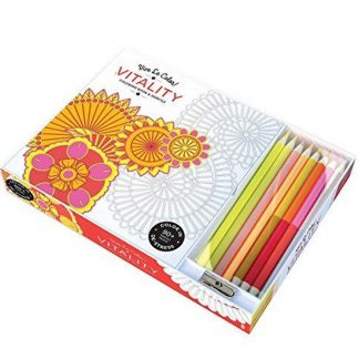 VITALITY ADULT COLORING BOOK W_PENCILS